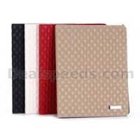 Woven Texture Pattern Flip Stand PC+PU Leather Case for iPad 2 / iPad 3 New iPad/ iPad 4
