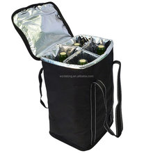 4 Bottle Wine Carrier ,Travel Insulated Wine Carrying Case Tote Bag for Champagne Picnic Cooler