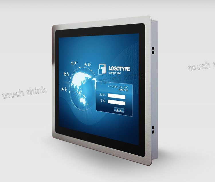 19 inch HMI input 5 Wire Resistive Touchscreen optical frame display for industrial control system