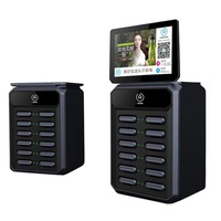 power bank rental stations 10.1 inch LCD advertising screen cell phone charging kiosk