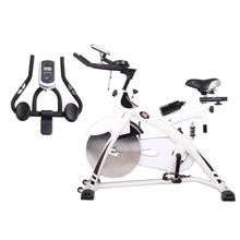 Pro Indoor Cycle Sport Equipment Trainer Home Office Body Fit Exercise Spin bike with Iron Flywheel Free Water Bottle Included