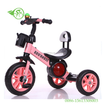 2017 good quality baby / kids tricycles 3 in 1 children trike toys with kettle mini bicycles toys EVA AIR wheels manufacturer
