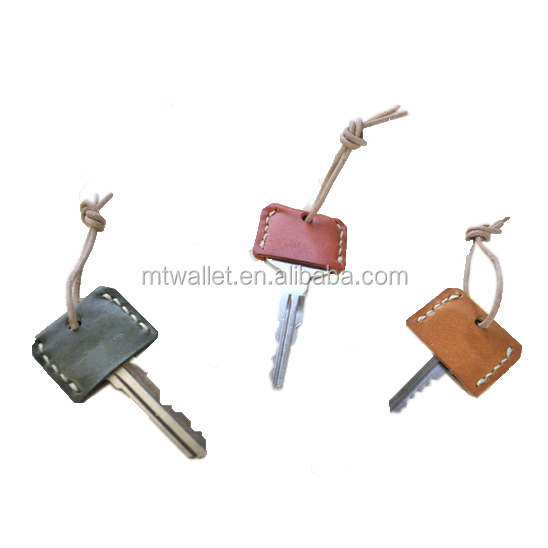 Practical verious smooth leather tanning key cap cover with strap CUSTOM Guangzhou manufacturer cheap