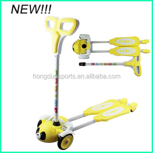 Animal frog scooter for children,four wheel scooter
