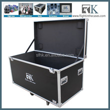 Large Rolling Hard Case With Extra Padding Foam, Built-In Handle and Wheels