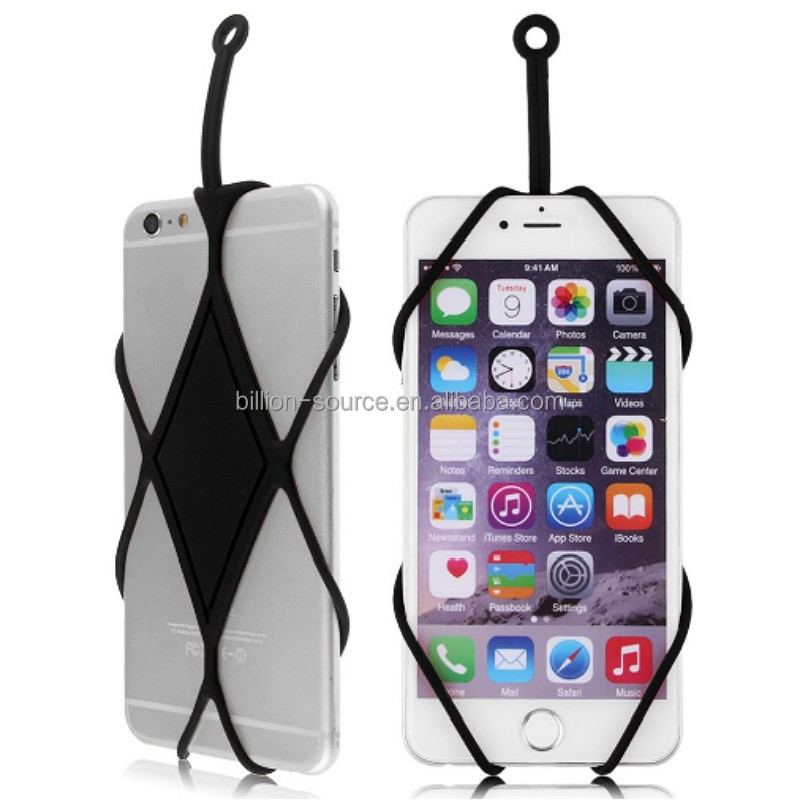 Silicone Phone Back Straps/Customized Designs and Logos Silicone Phone Holder Lanyard