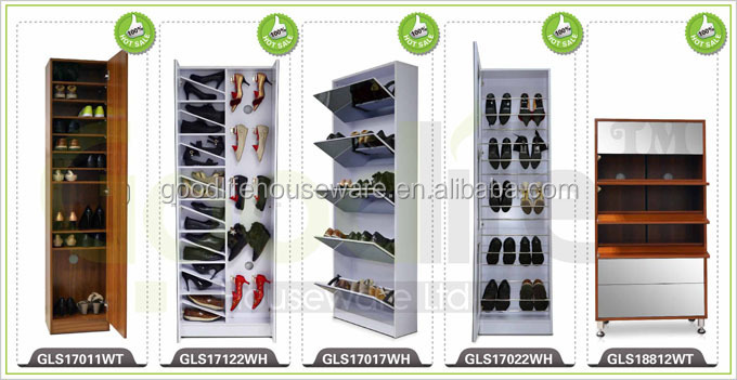 Wall usefull space saving furniture models shoe racks wood