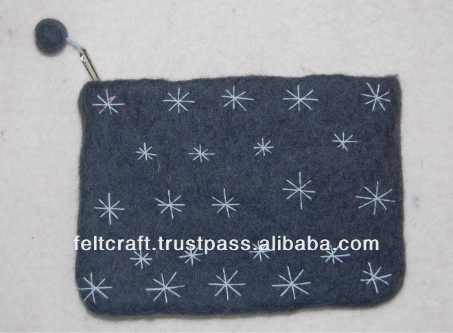 Felt Purse, stitched Felt purse,Handmade purse