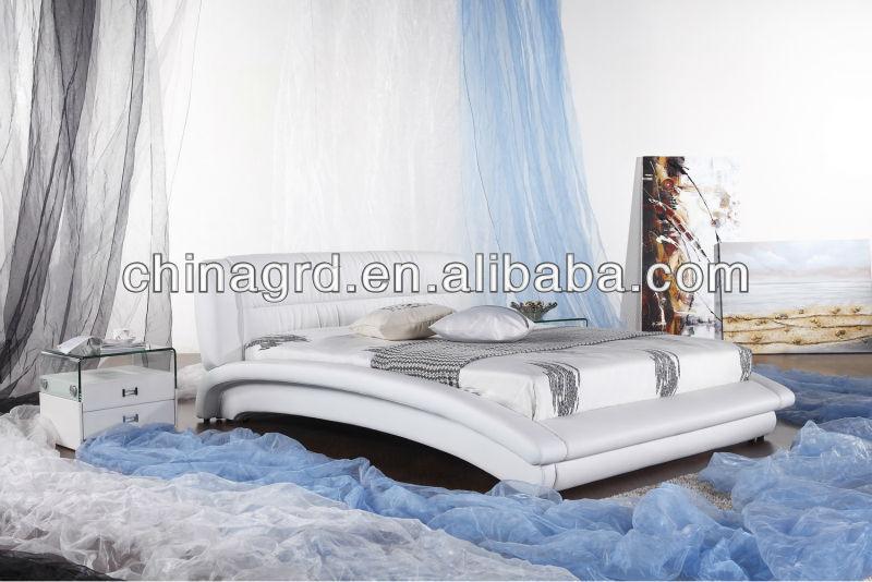 El posmodernismo estilo indio muebles de dormitorio cama de cuero ...
