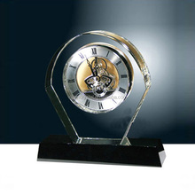 Desk & table clocks with a fashionable black crystal base
