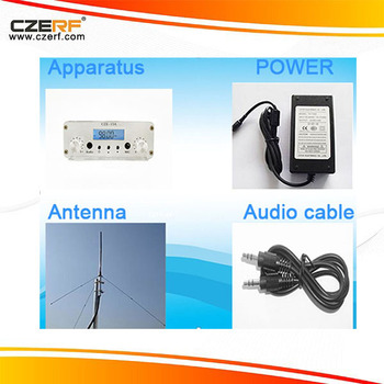 CZE-15A 15w Silver FM Transmitter Kits with RCA Wireless Audio