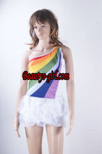 2012 Wholesale Halloween Party Rainbow Angel Costume with tutu