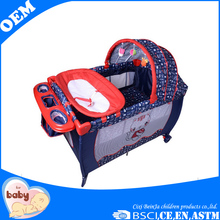 wholesale Iron tubes double layer folding baby cot bed prices