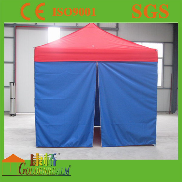 Logo printed folding tent roll-up door with zip access Exhibition Event Marquee Gazebo