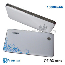 Power Station for smartphone Blue-and-white porcelain 10800mAh Battery power bank