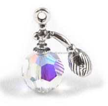 newest style perfume bottle 3D alloy charms and crystal