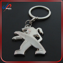 High quality oem 3d logo custom car logo DONGFENG Peugeot keychain metal keychain for promotion gift