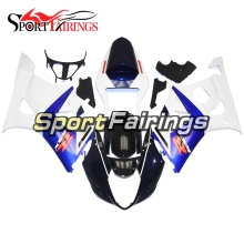 White Blue Injection Fairings For Suzuki GSXR1000 K3 03 04 Year ABS Plastic Complete Motorcycle Fairing Kit Body Kit Fitings