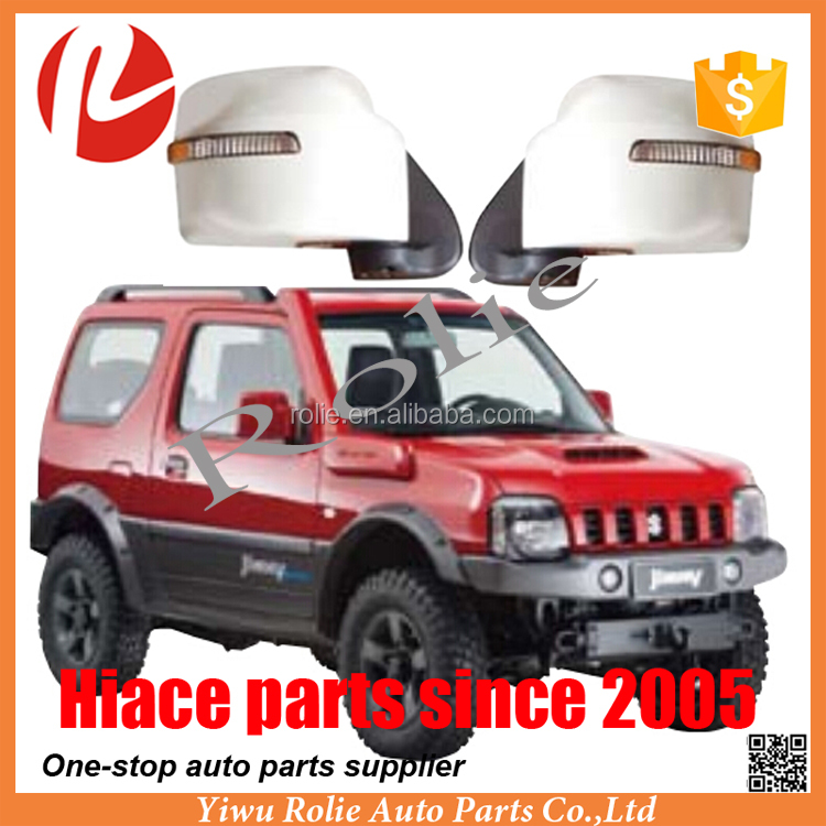 Refit turning spare auto body parts electric automatic foldable JIMNY side rear view LED light mirror