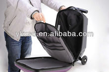 2016 new design PC/EVA trolley luggage with 3 wheels
