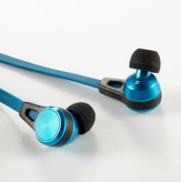 Colorful In-ear Super Bass Earphones with 3.5mm plug Flat Cable