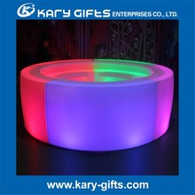 PORTABLE LED OUTDOOR LED MOBILE POLYETHYLENE LIGHTED BAR COUNTER
