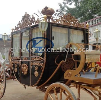 Royal horse wagon for weddings, photography, real estate activities