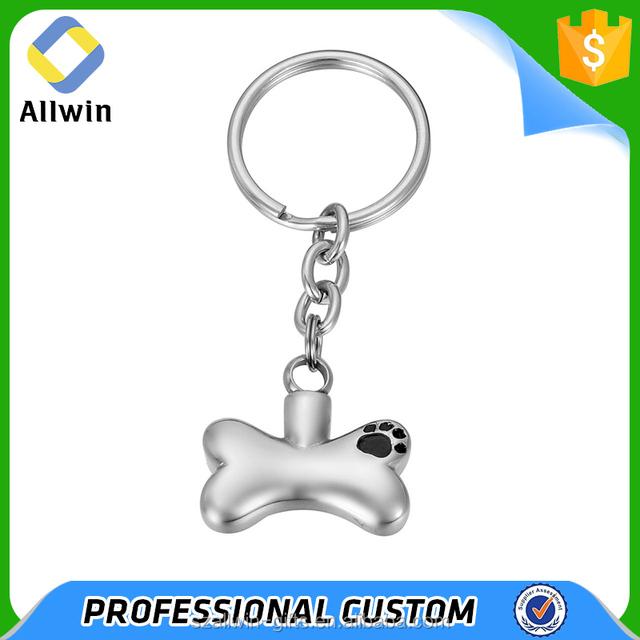 Custom Cheap 3D Metal Dog Bone Shape Key Chain