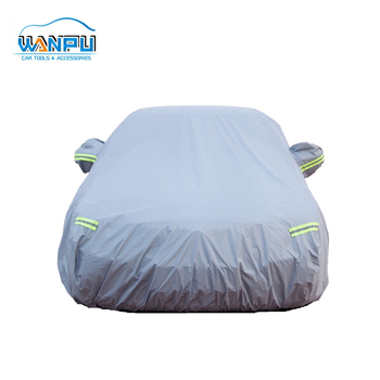 Wholesale reflective stripe Waterproof UV Protection stretchable PE Car Cover