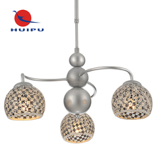 Hot new products for mosaic glass silver pendant light