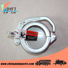 Forged snap clamp joint for concrete pump pipe, elbow, bend, reducer etc.