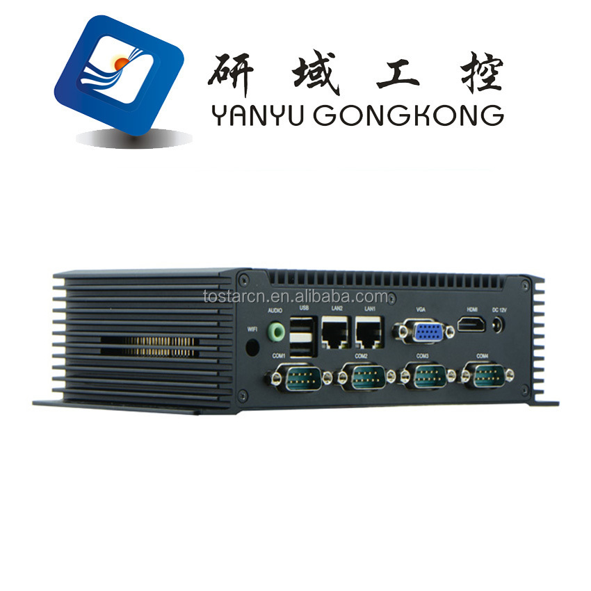 Low Cost NFN45 Fanless Industrial Mini PC MiNi Embedded computer 3G/WiFi function