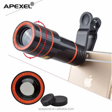 APL-HS12X universal mobile clip lens HD optical 12x zoom telephoto lens