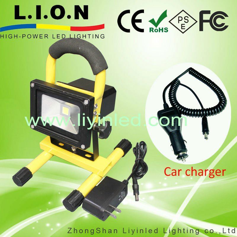 COB and Rechargeable Led Flood Light with Handle and Lithium Battery,10W 20W 30W available