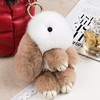 Adorable Bunny Patten Fur Car Accessory