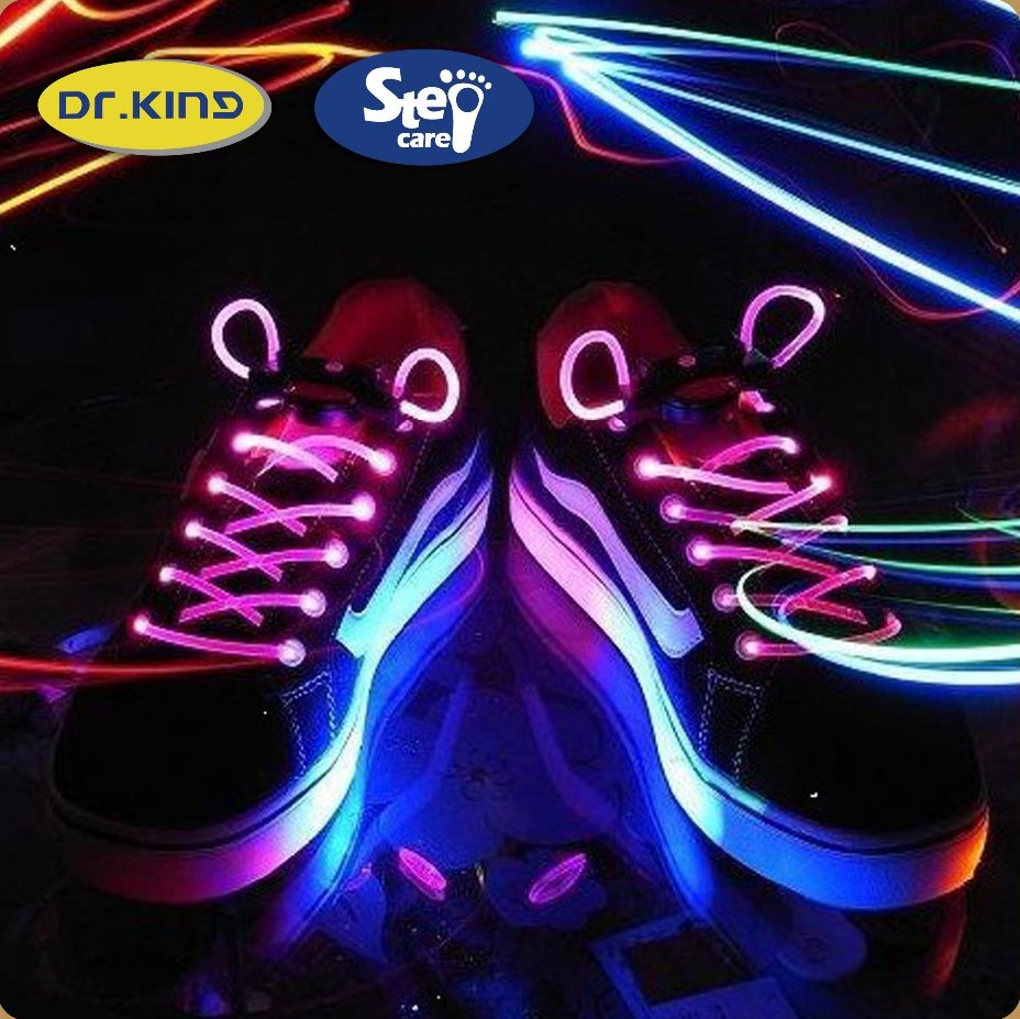 Beautiful colorful cheap plastic led shoe lace