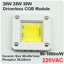 IC Integrated 230VAC Led Module Led Chips 20W 30W 50W COB Chips