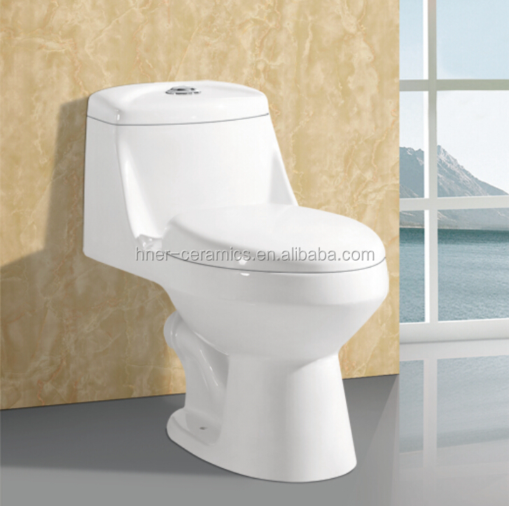 high quality wc ceramic sanitary, floor mounted, p-trap, one piece toilet with price