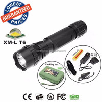 USA EU Hot sell Classic 501B 1/3/5Mode Cree XM-L T6 LED Police tactical hunting Flashlights Torches lamps with battery charger