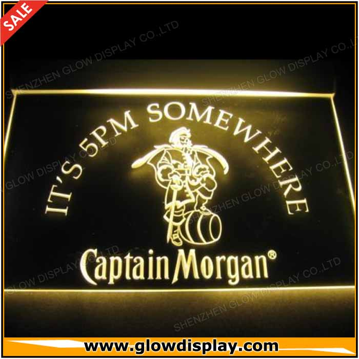 captain morgan Led neon light <strong>sign</strong>