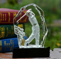 wholesale sport item crystal golf award and trophy for souvenir