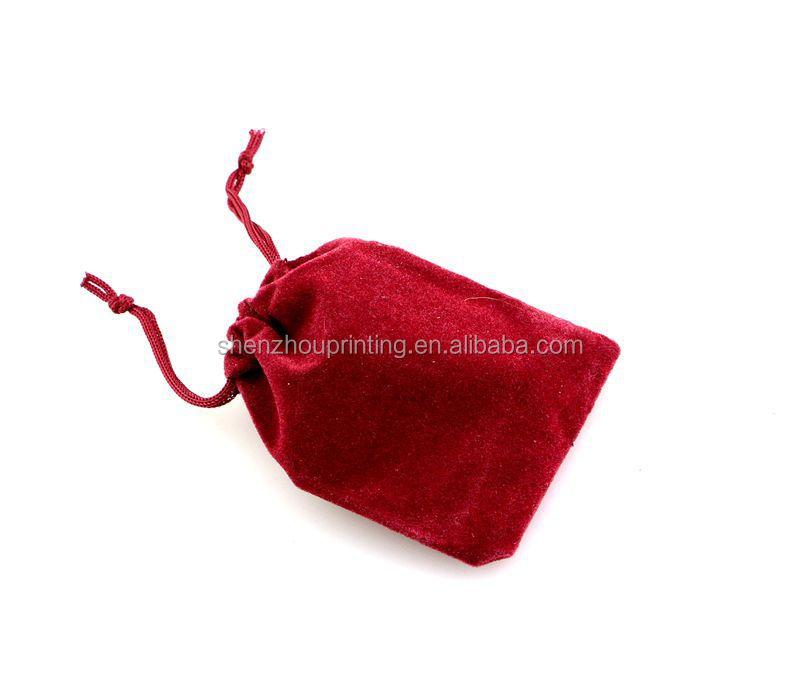 wholesale custom personalized velvet fabric gift bag
