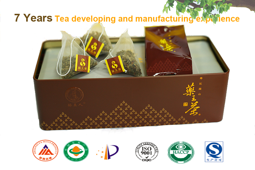 Alibaba gold supplier hot sales organic wild natural Reducing high blood / sugar /cholesterol tea
