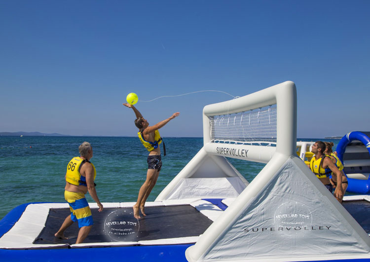 Beach Games Inflatable Floating Sea Water Aqua Park Toys Volleyball Court Sale For Adults