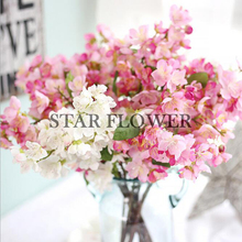 SF2017145 cheap artificial flowers cherry blossom tree branches wholesale silk plastic fabric cherry blossom for sale