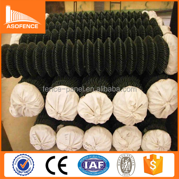high quality pvc coated chain link fence/dark green color garden fence in roll
