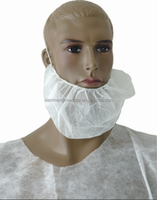 Custom low price 18'' 21'' non-woven PP disposable surgical beard mask