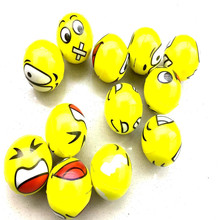 Best promotion Cute Yellow Smiley Face PU foaming Squeeze Ball Emoji Stress Ball