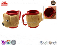 custom made eco-friendly plastic cartoon dog jucie cup CTI ,ISO ,BV certificates