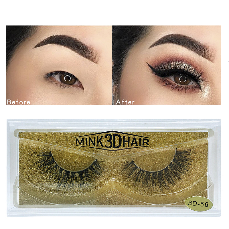 <strong>17</strong> Different Style 3d Fake Mink Glitter Luxury Gold Holographic Eyelash Packaging (1 Pair / Box)